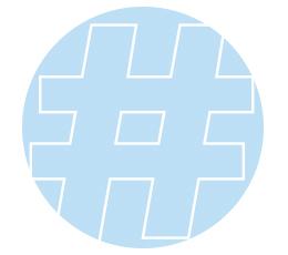 hashtag image-blue circle