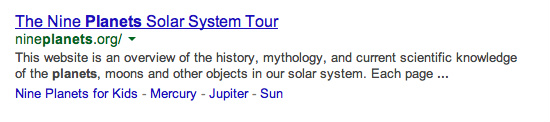nine planets solar system post
