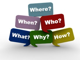 colorful questions-where?-when?-who?