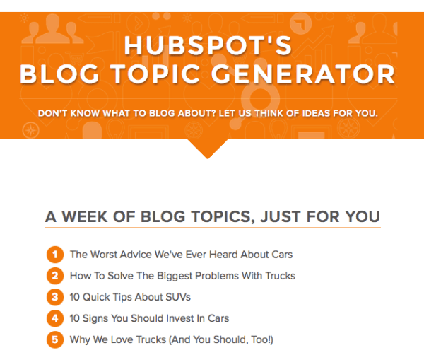 hubspot-blog-topic-generator