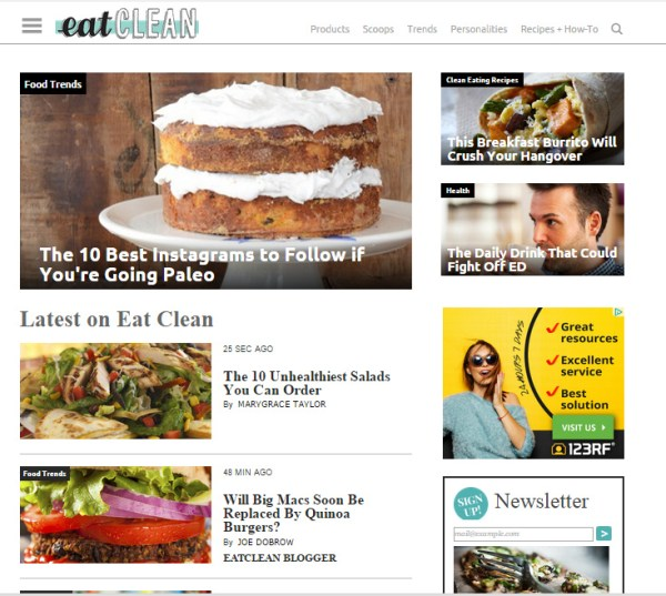 eatclean-website