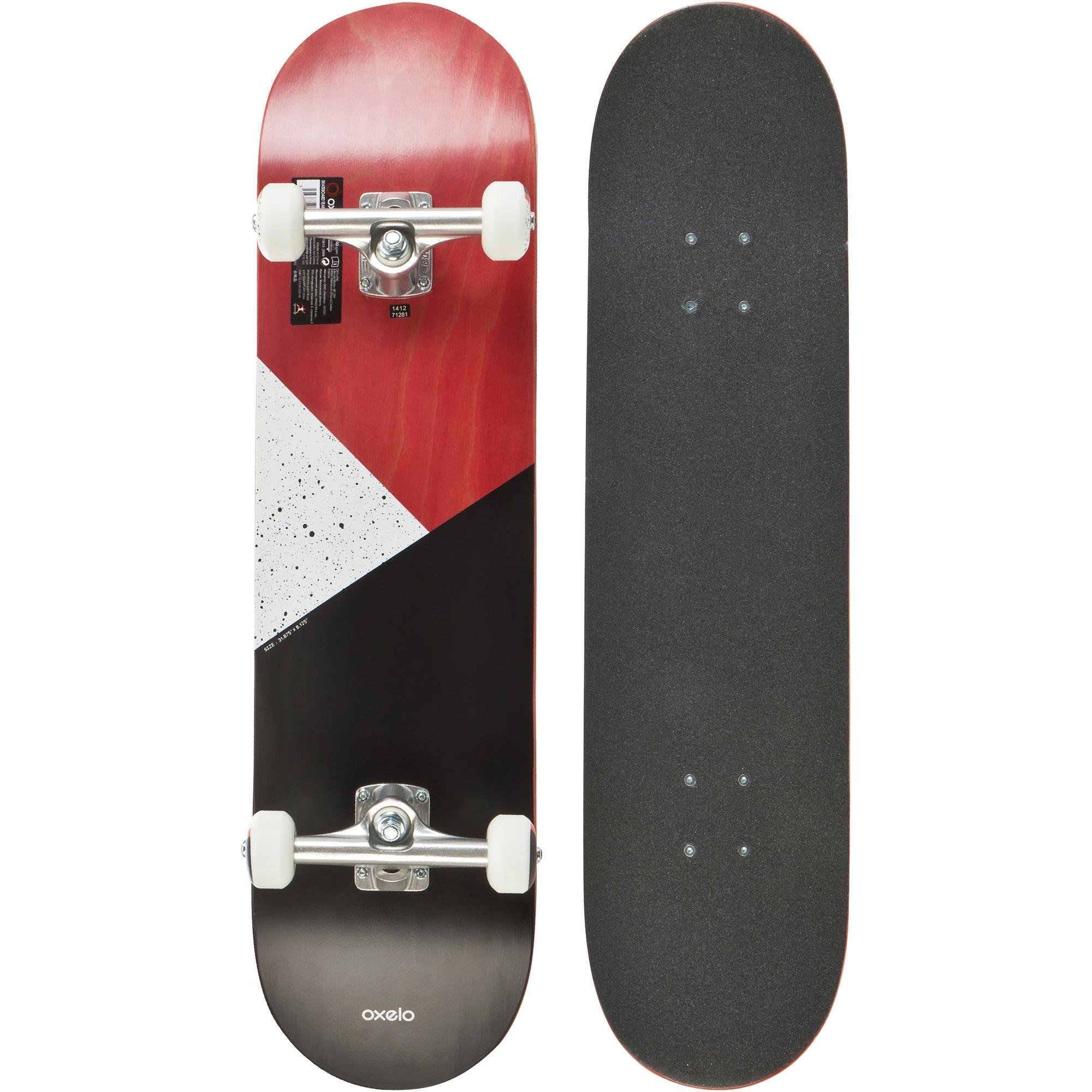 Skateboard Skateboard Team Galaxy Skateboard Red Oxelo