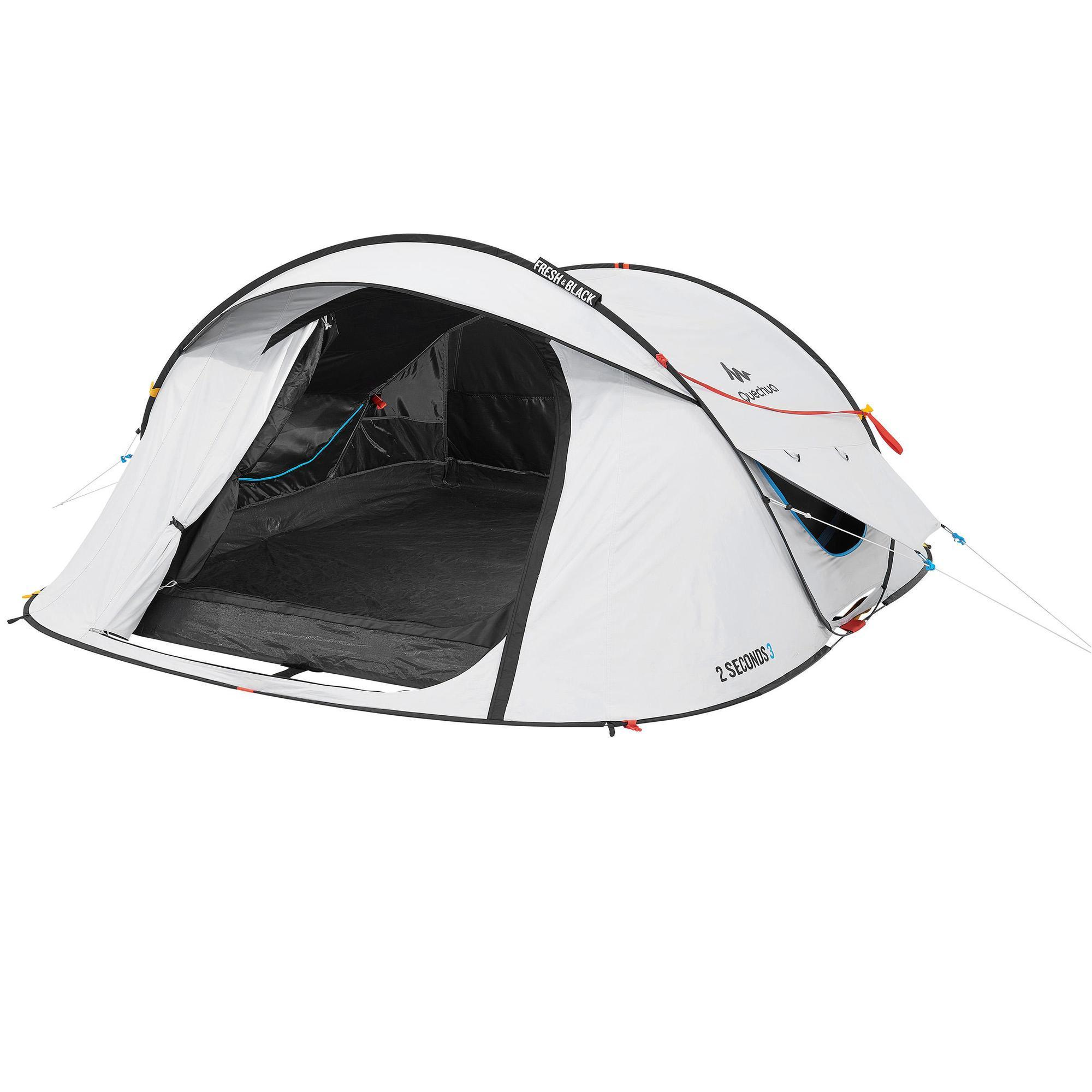 1 Persoons Pop Up Tent Pop Up Tent 3 Persoons Wit 2 Seconds Fresh Black