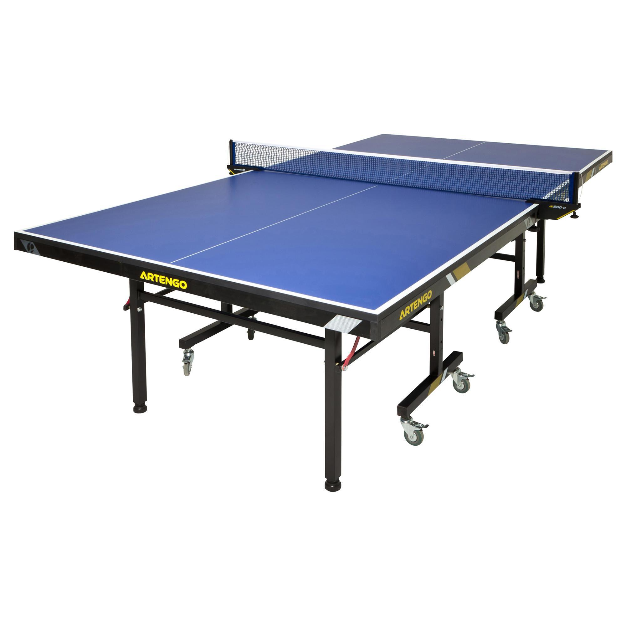 Solde Table De Ping Pong Ft950 Club Fftt Approved Table Tennis Table Blue Artengo