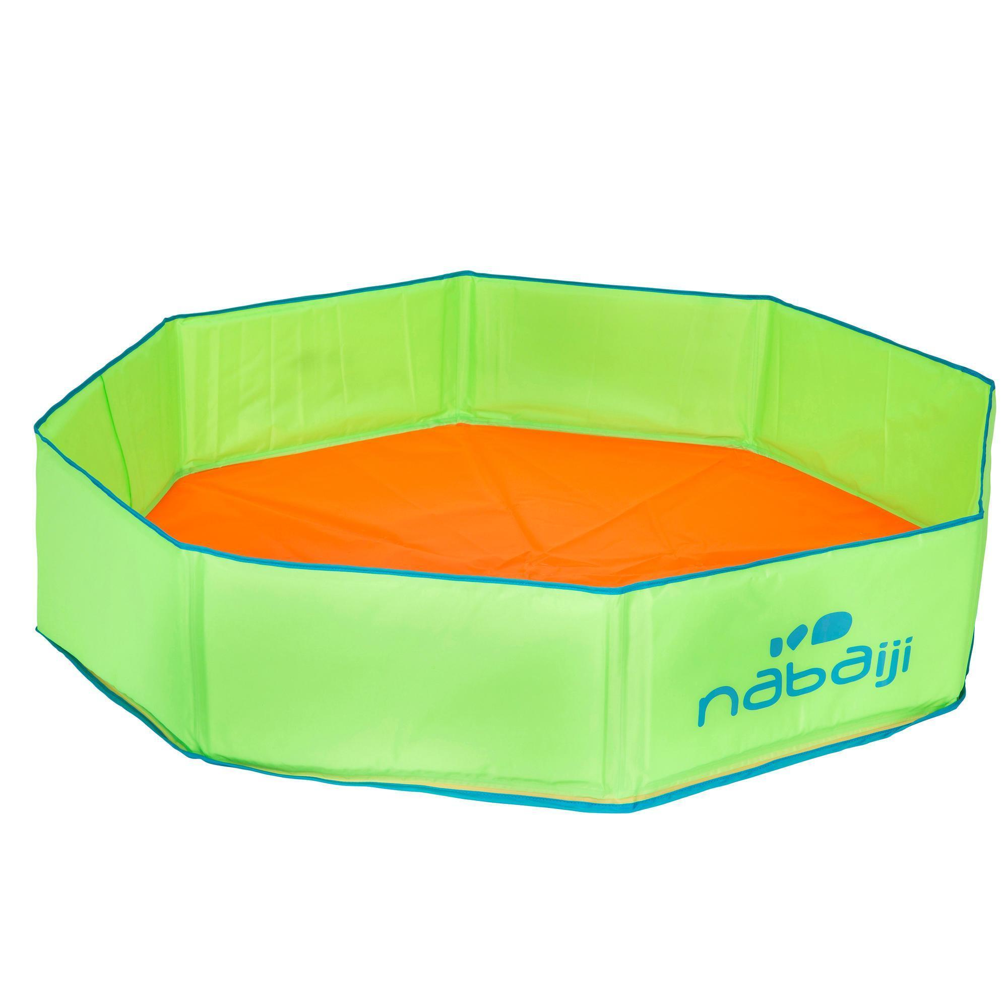 Piscina Decathlon Tidipool 43 Paddling Pool With Carry Bag Green And Orange