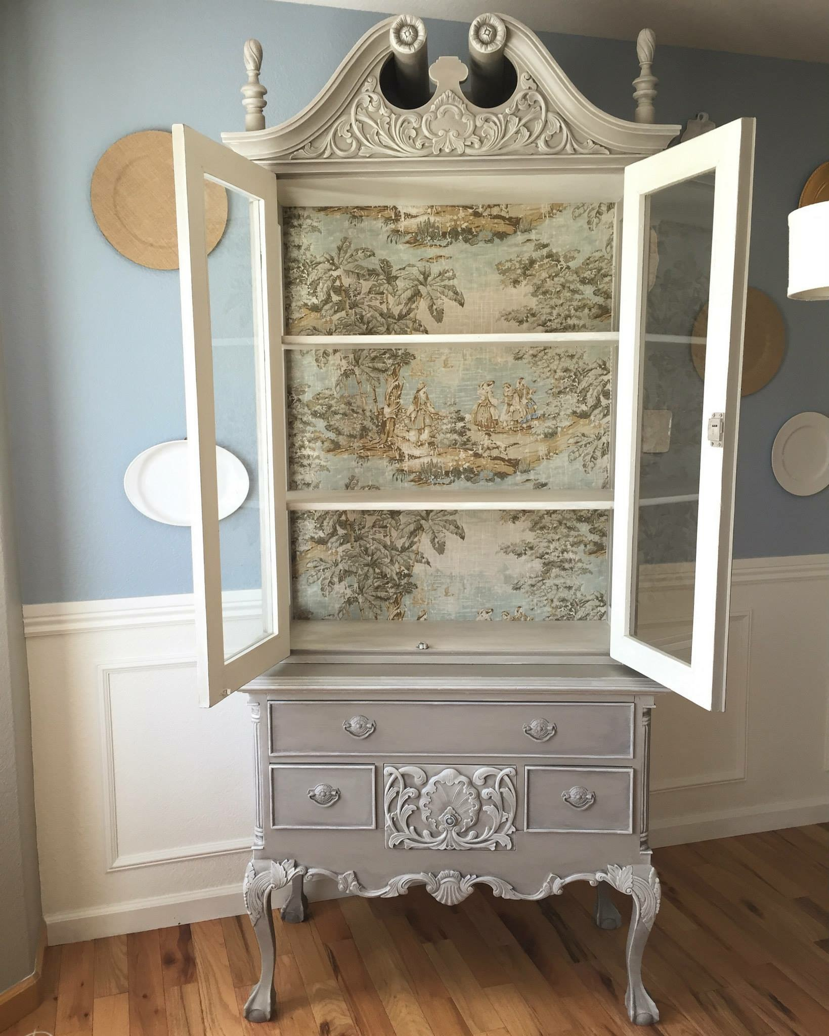 Decoupage Muebles French Country Toile Hutch | General Finishes 2018 Design
