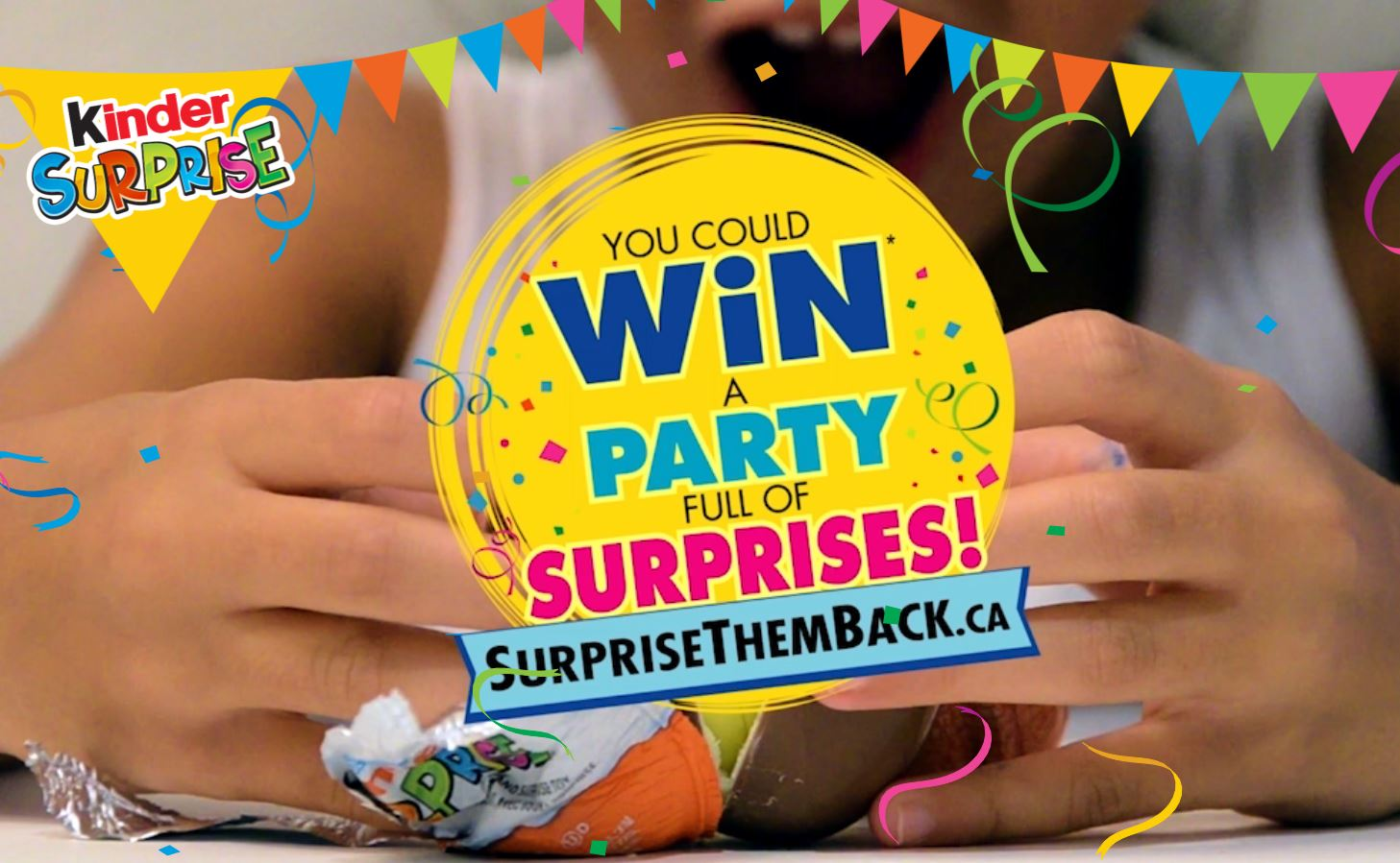 Kinderessen Party Kinder Surprise Them Back Contest Win Instant Prizes Or Ultimate