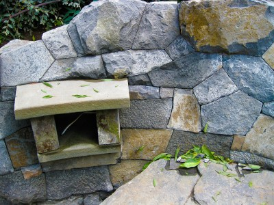 Eric Contey Stonework - Sherlag wall and custom niche