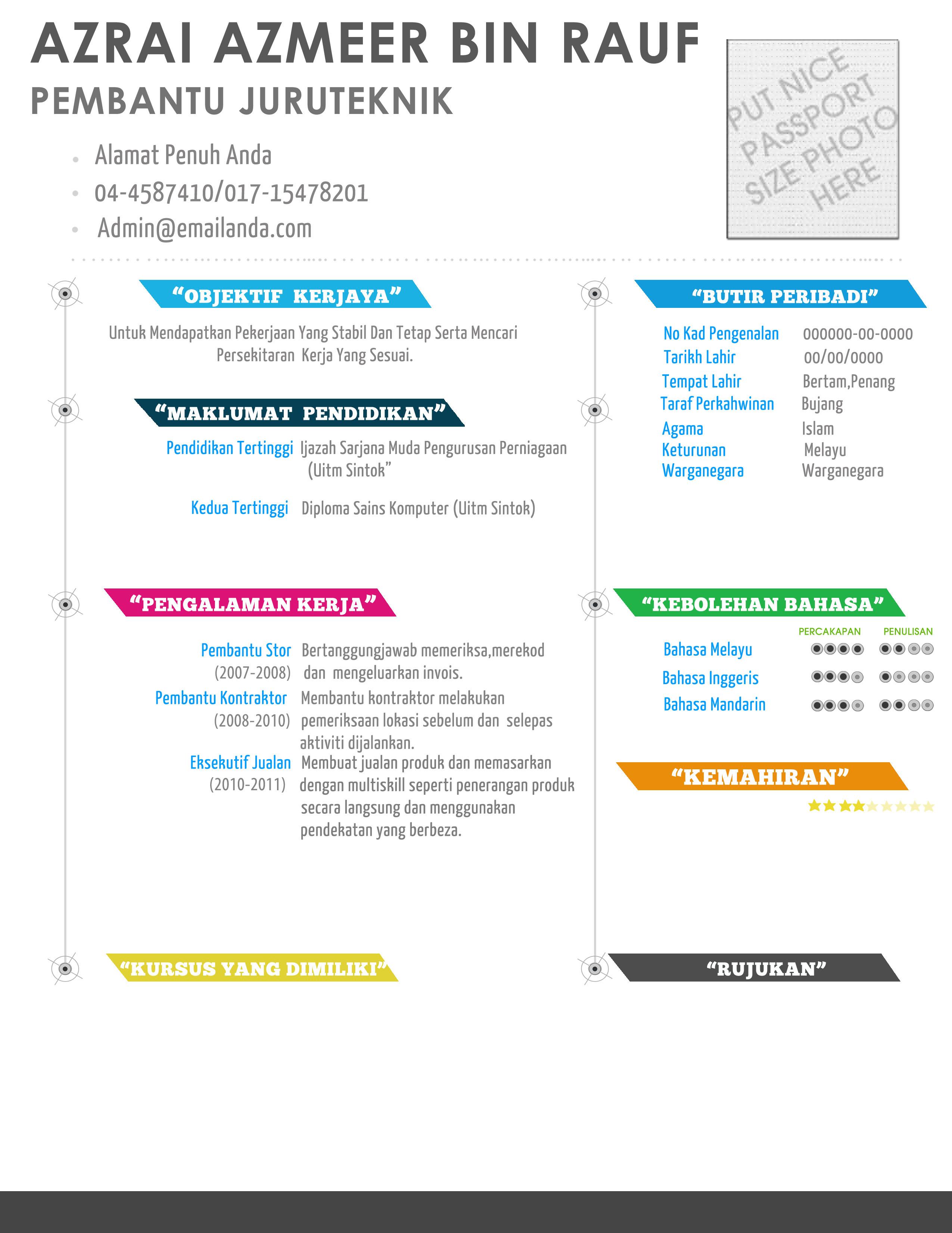 contoh resume juruteknik komputer contoh resume