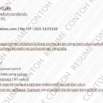 Contoh Resume Kerani - Pembantu Tadbir