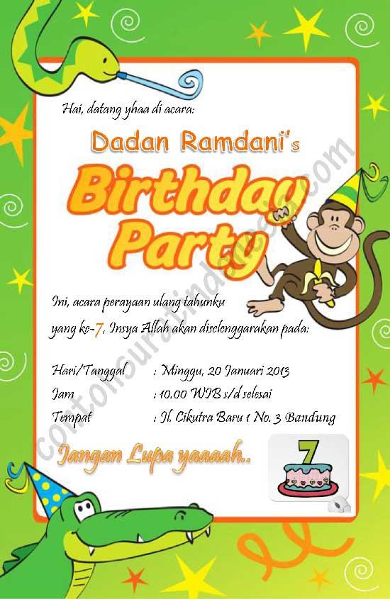 Contoh Undangan Ulang Tahun B Jawa