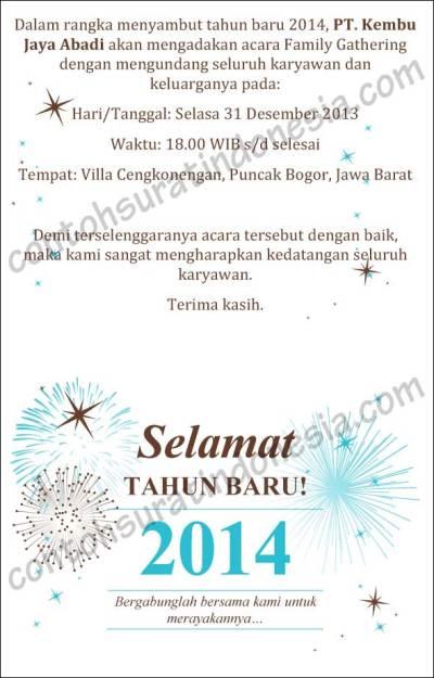 Undangan Peryaan Tahun Baru Yaah Semoga Acaranya Sukses Aamiin