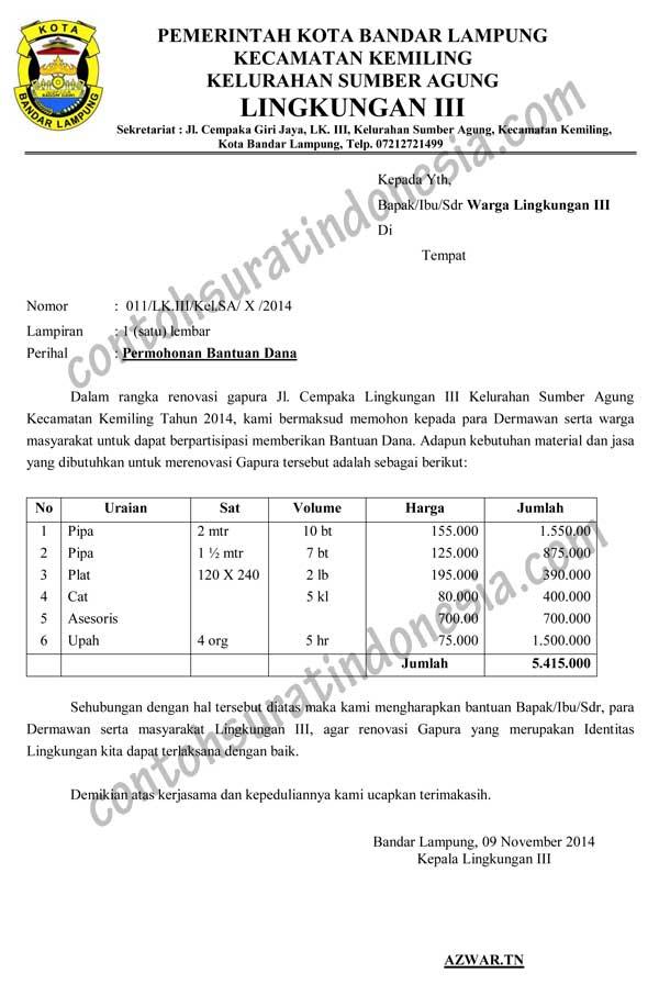 Contoh Proposal Pembangunan Kantor Desa Contoh Proposal Pembangunan Masjid Slideshare Contoh Surat Bahasa Indonesia Lengkap Referensi Surat Anda