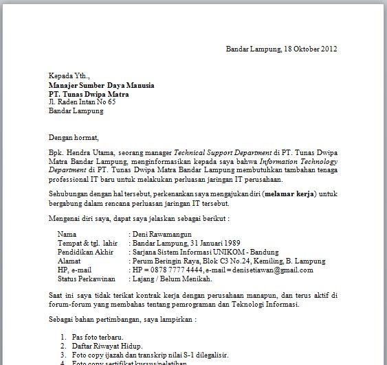 Contoh Surat Lamaran Di Bank Sinarmas Kumpulan Contoh Gambar