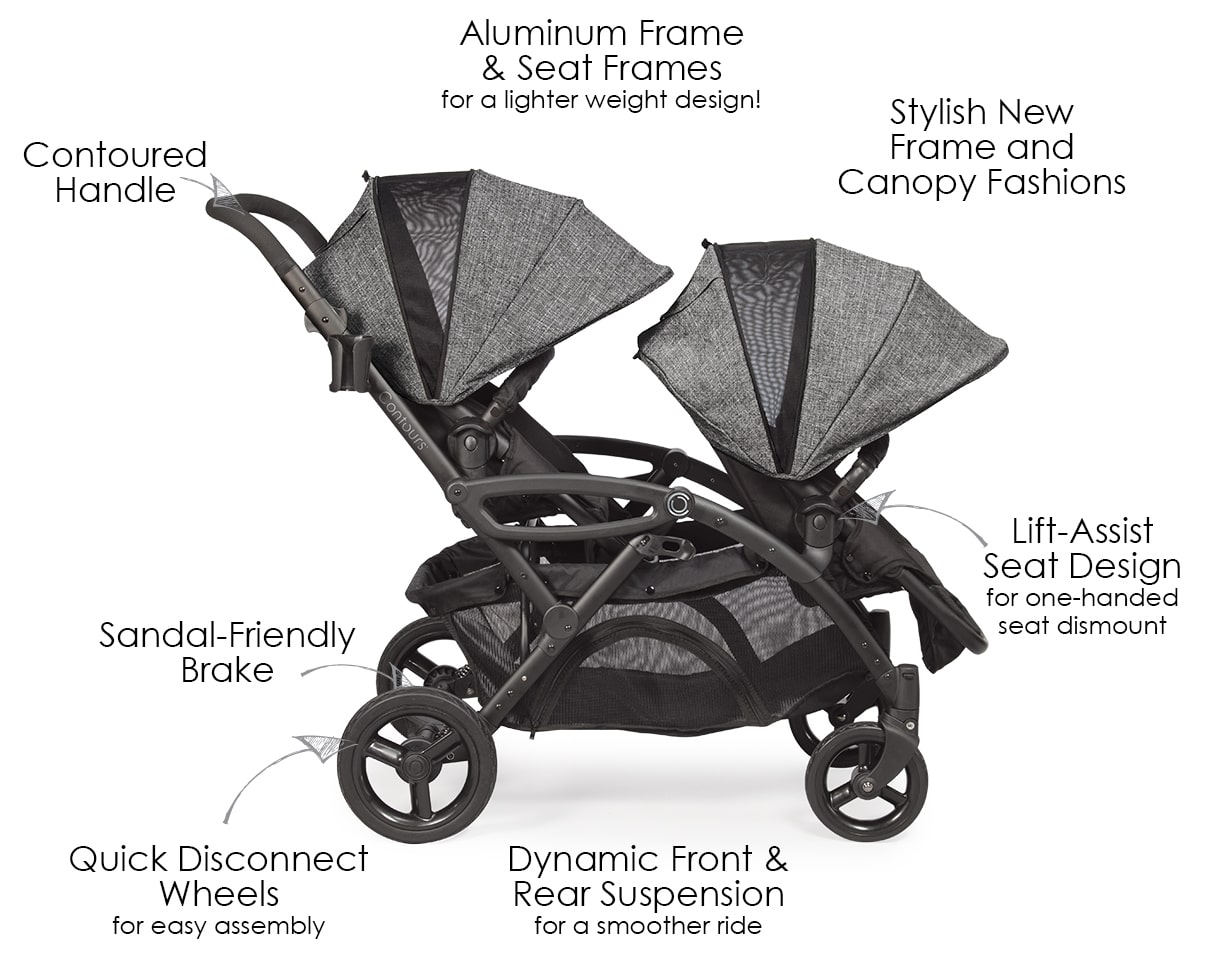 Universal Car Seat Stroller Frame Options Elite Double Stroller Twin Strollers Tandem