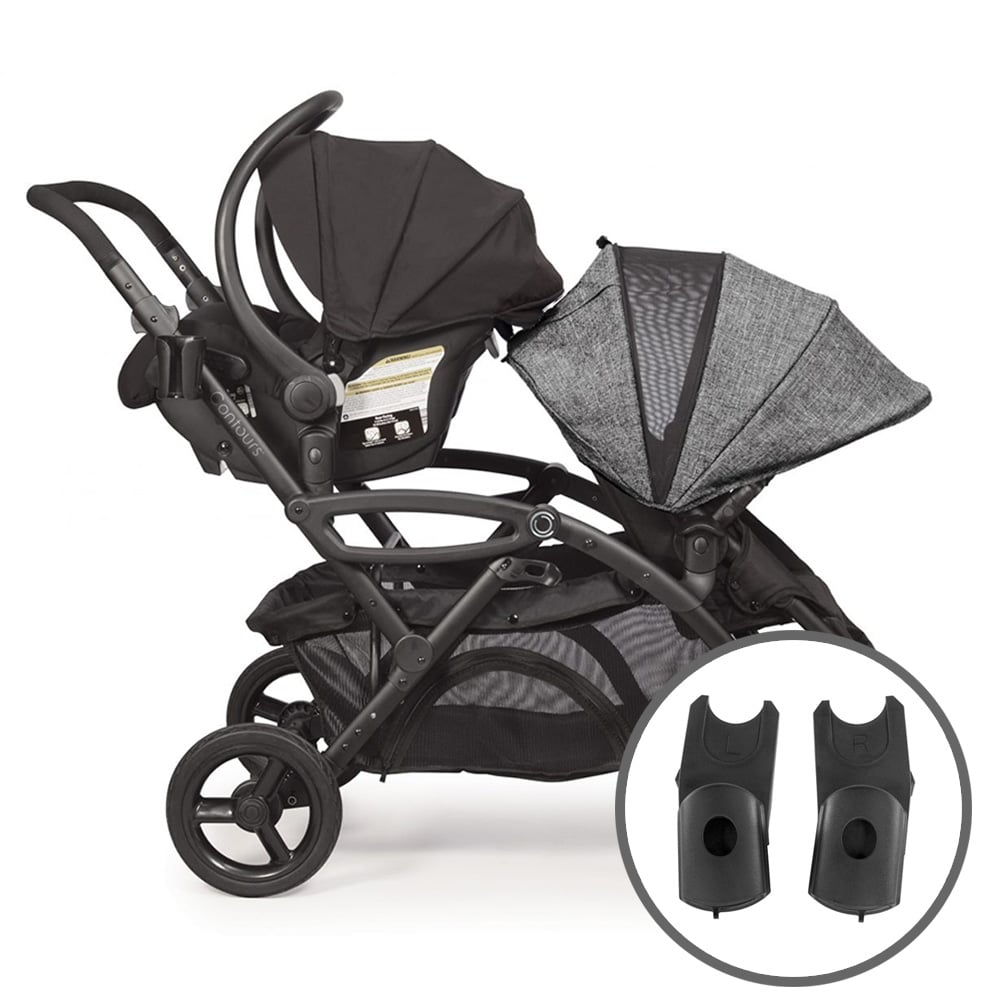 Twin Stroller And Carseat Contours Maxi Cosi Nuna Cybex Adapter Contoursbaby