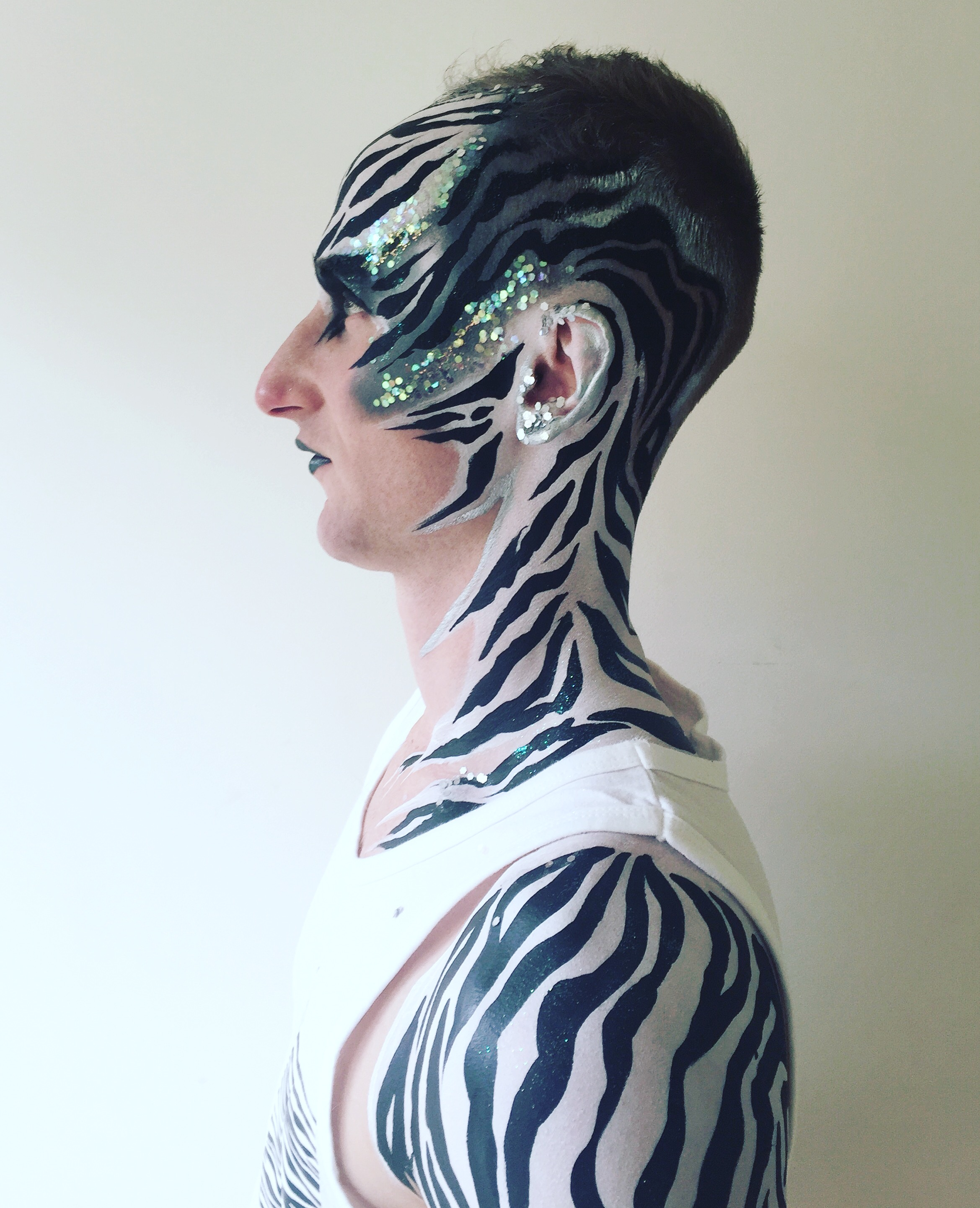 Schminkvorlage Zebra Booking Agent For Brierley Face Body Painter Contraband Events