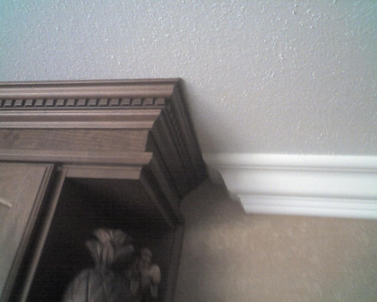 Types Of Crown Molding For Kitchen Cabinets Joining 2 Different Crown Moldings Finish Carpentry