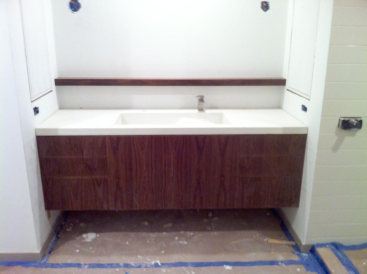 30 Floating Bathroom Vanity Floating Vanity And White Concrete Top Carpentry Picture