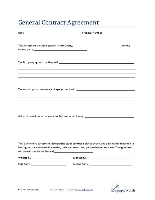10 Printable Contract Agreement Templates Contract Templates