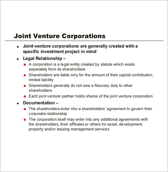 Joint Partnership Agreement Template construction joint venture – Investment Agreement Doc