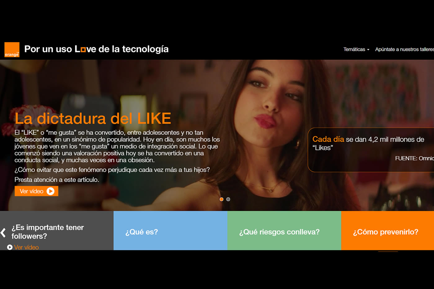 análisis por un uso love de la tecnologia orange