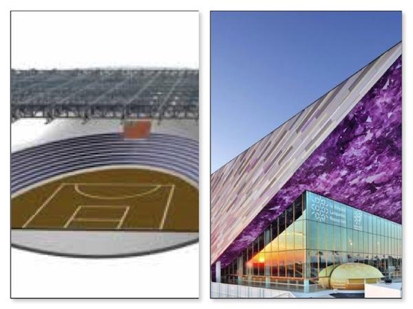Salle multimodale Narbonne et Arena de Montpellier.
