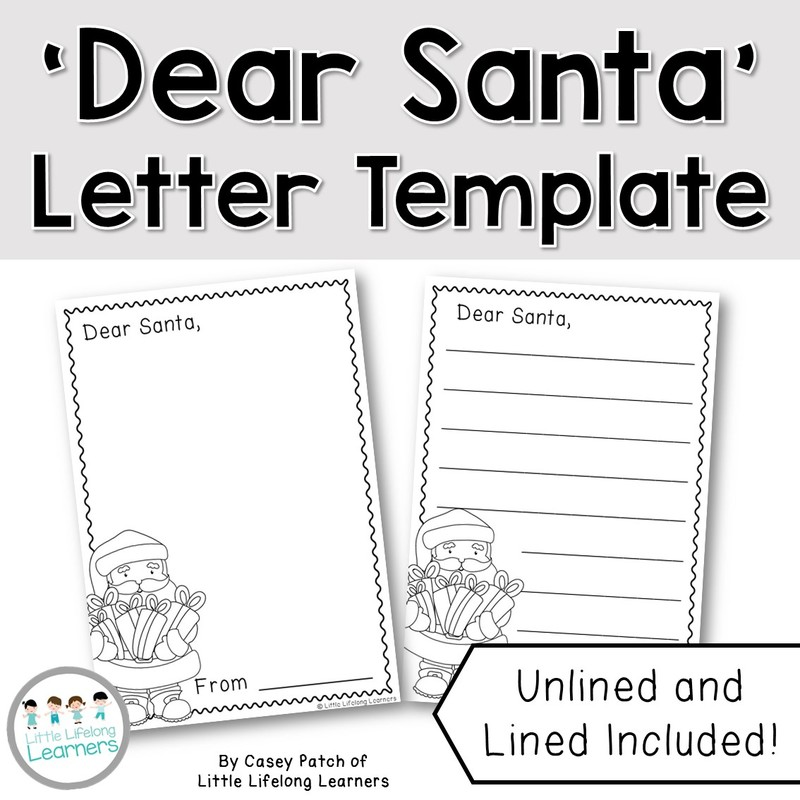 FREE Santa Letter Writing Template - Little Lifelong Learners - letter writing template