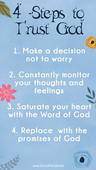 4 steps to trust god completely