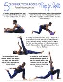 Beginner yoga modification poster