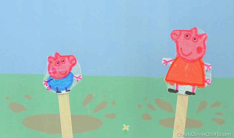 Peppa Pig Puppet Show {Tutorial} Cook Clean Craft