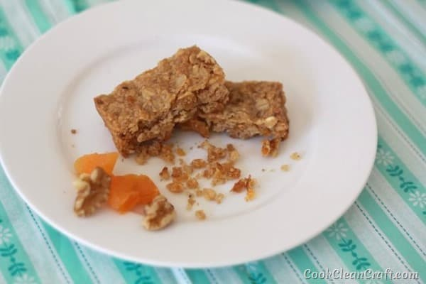 Simple Apricot Walnut Slice to Share Cook Clean Craft