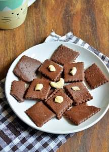 Quick chocolate burfi recipe | How to make quick chocolate burfi recipe