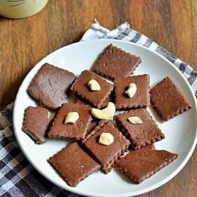 quick chocolate burfi recipe