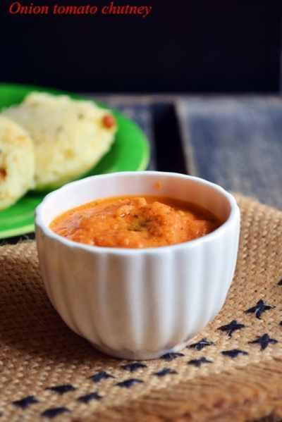 Onion tomato chutney recipe, how to make tomato onion chutney | Easy chutney recipes