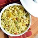 double beans methi pulao recipe 2