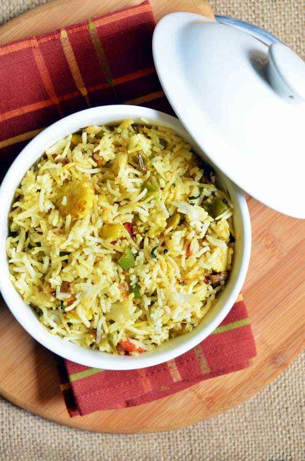 double beans methi pulao recipe 2