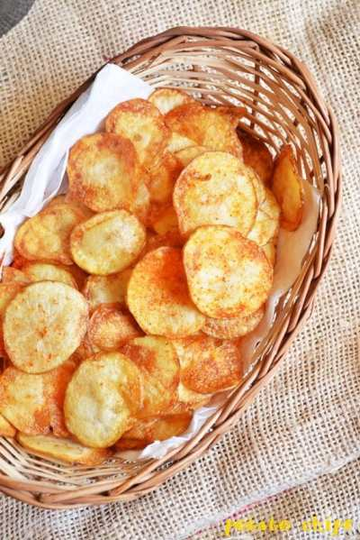 Easy potato chips recipe | How to make potato chips at home