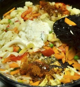 vegetable masala dosa step2