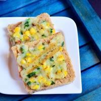 Creamy corn toast recipe | Corn potato open toast recipe
