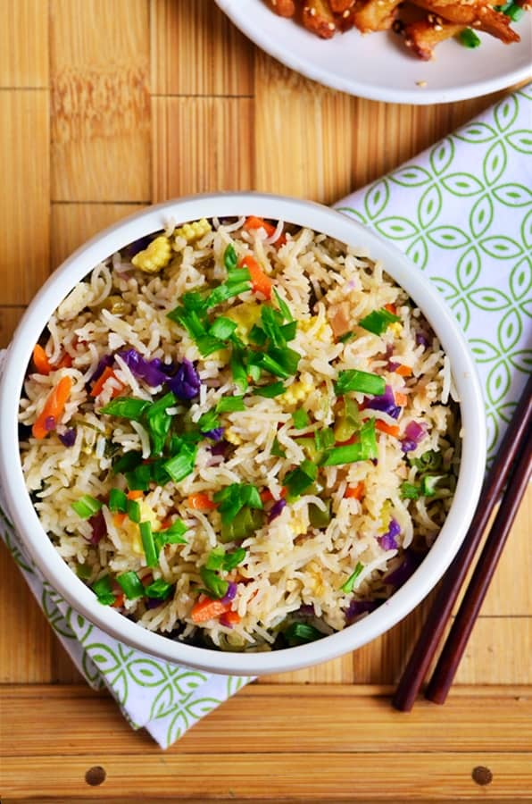Restuarant style vegetable fried rice recipe1