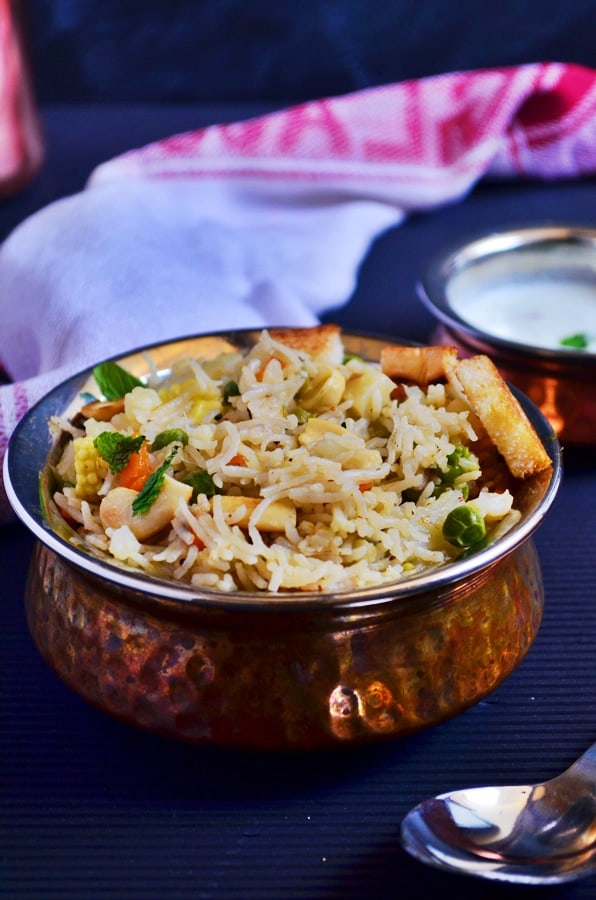 easy vegetable pulao recipe in pressure cooker recipe-c
