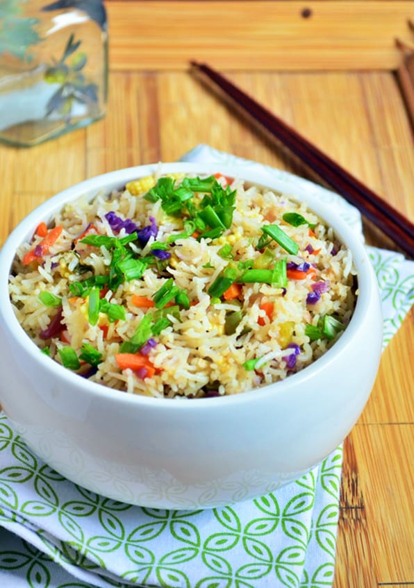 vegetable fried rice | Restaurant style veg fried rice