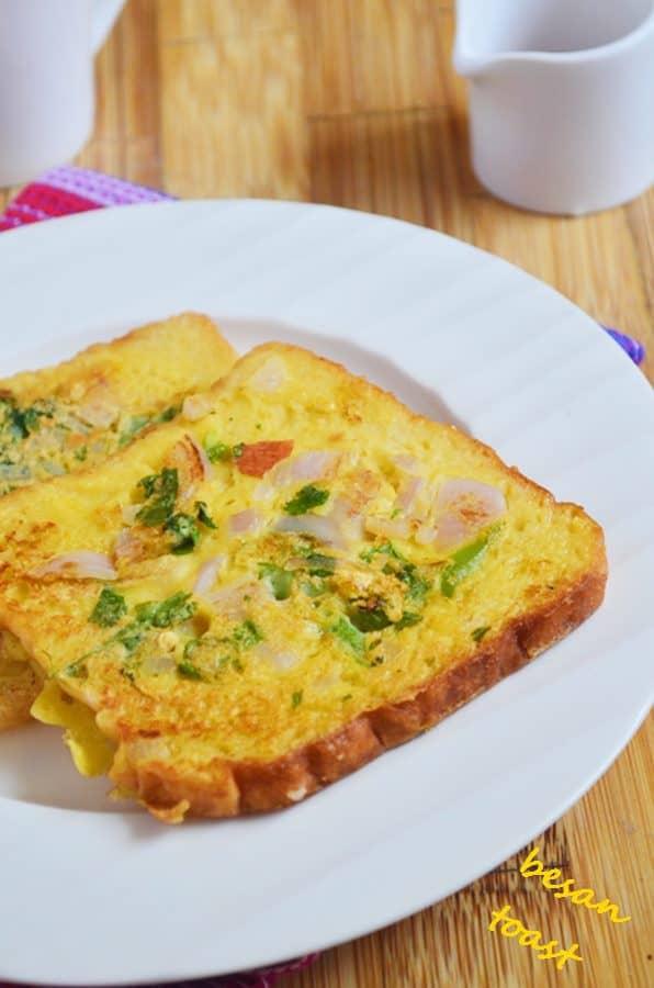 recipe of bread besan toast