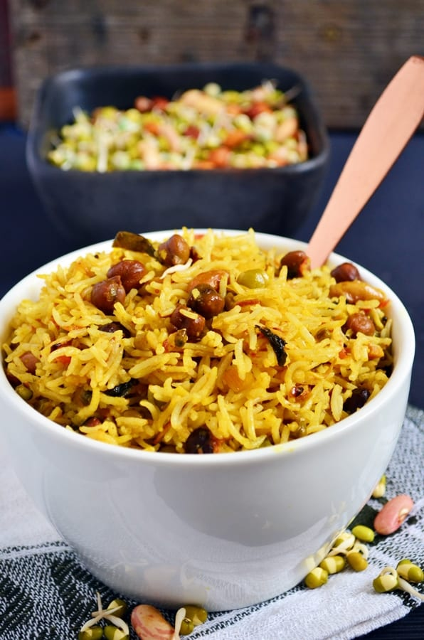 Easy sprouts pulao recipe
