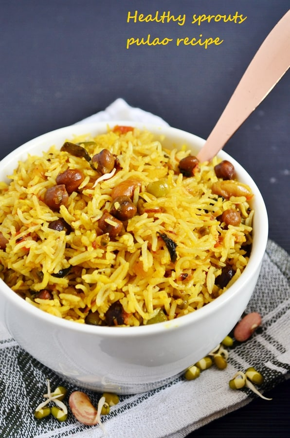 Healthy sprouts pulao recipe