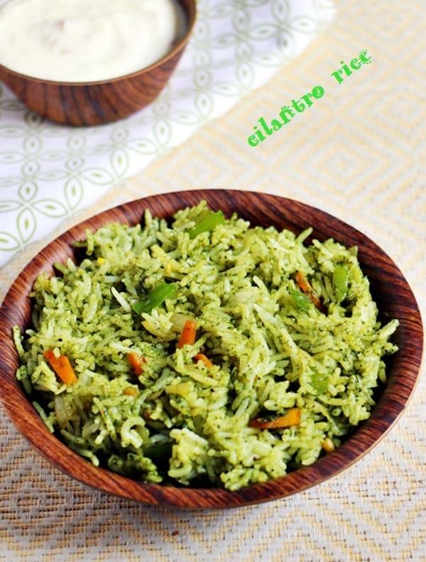 cilantro rice recipe