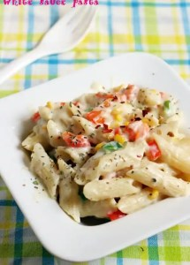 White sauce pasta recipe, how to make pasta in white sauce