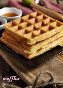 Eggless waffle recipe | eggless waffles recipe