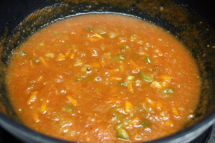 pasta in red sauce step 7